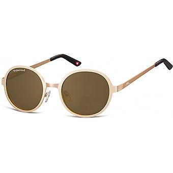 Sonnenbrille Unisex   Runde goldene  MP87F