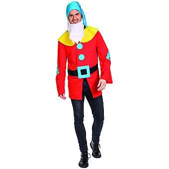 Nano Uomo Favola Costume Nano Maestro Foresta Dweller Carnevale