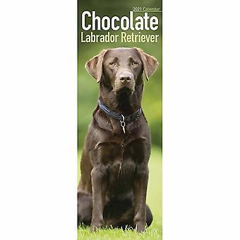 Otter House 2021 Slim Calendar-chocolate Labrador Retriever
