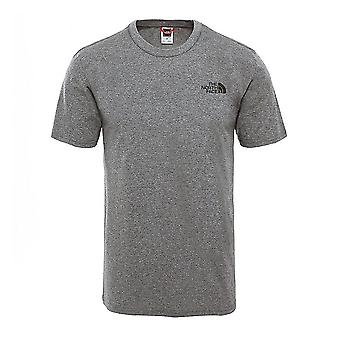 Il North Face Simple Dome Mens Fashion Casual T-Shirt Top Tee Grey
