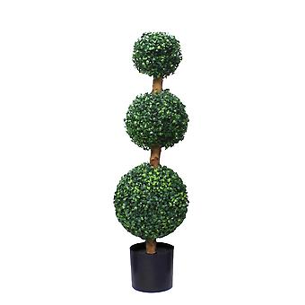 95cm Artificial Three Ball Topiary Tree UV Protected