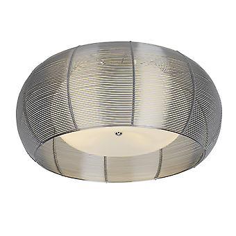 LAMPADA BRILLIANT Relax Lampada a soffitto 50cm cromo/bianco 2x A60, E27, 30W, adatto per lampade normali (non incluse) Scala