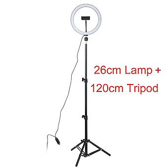Led Studio Camera Ring Light Photo Phone Video Lamp With Tripods Selfie Stick Ring Table Fill Light For Canon