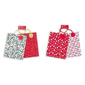 Giftmaker 2 Pack Christmas Xmas Gift Bags Assorted Designs Large Size