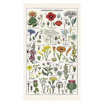 Cavallini Vintage Wild Flowers Cotton Tea Towel