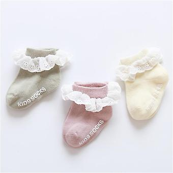 Baby Socks Lace Ruffle Bow, Newborn Baby Cheap Stuff Floor Anti-slip Sox
