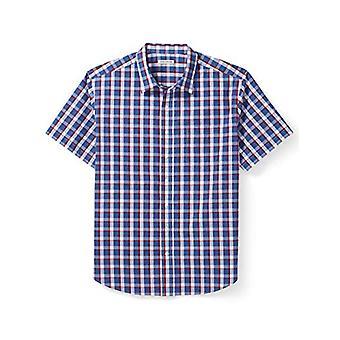 Essentials Men's Iso & Pitkä Lyhythihainen ruudullinen paita sopii DXL, Punainen / B ...