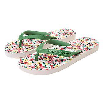 Slydes Cath Kidston Shirley Flip Flops - Cream