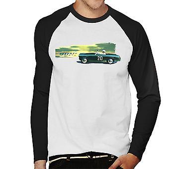 Austin Healey 20 Green British Motor Heritage Men's Baseball Long Sleeved T-Shirt