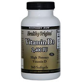 Healthy Origins Vitamin D3, 2400iu, 360 Sgel