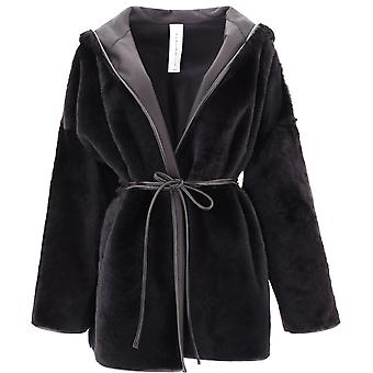 Giani Clioebano Women's Black Fur Coat