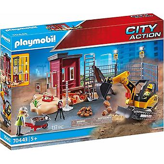 Playmobil 70443 city action construction small excavator 117 pc with movable