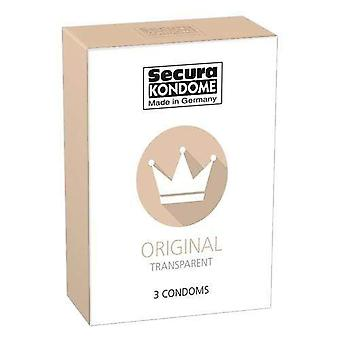 Secura kondome original transparente Kondome Packung von 3 tcp54568