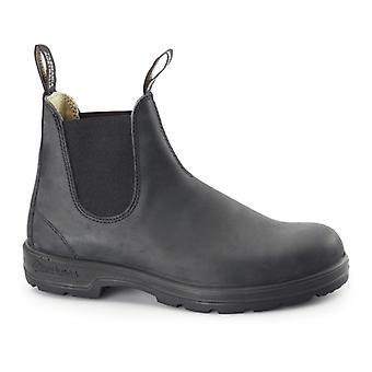 Blundstone 587 Unisex Leather Chelsea Boots Rustic Black