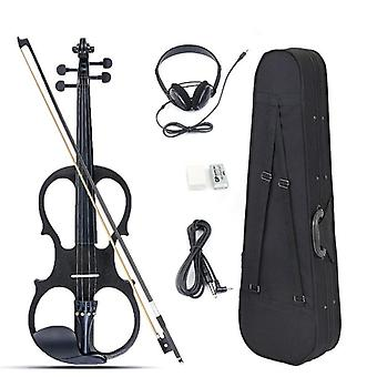 4/4 Electric Violin Set With Fittings Cable, Headphone And Case For Beginners