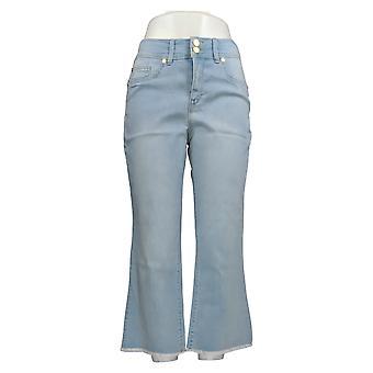 IMAN Global Chic Women's Jeans Luxury Resort 360 Slim Crop Blue 685-843