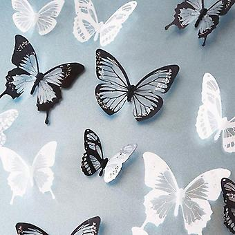 3d Effet Crystal Butterflies Wall Sticker