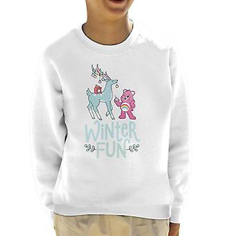 Care Bears Unlock The Magic Christmas Winter Fun Kid's Sweatshirt