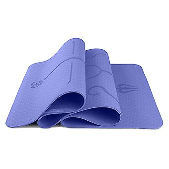 YANGFAN Exercise Double Layer Yoga Mat with Alignment