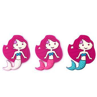 Cartoon Mermaid Food Grade Silikon Baby Teether för Diy hängande silikon Kids