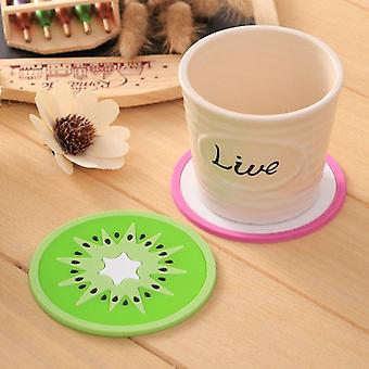 Silicone Fruits Button Coasters