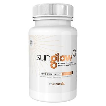 Sunglow Natural Tanning Tablets - 60 Tablets - Made with Lutein, Copper and Grape Seed Extract