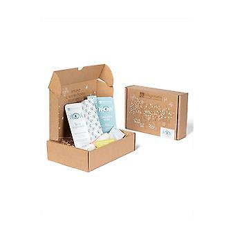 Biobox Wow - Ecobio Eyes Routine Box Eyelash serum 10 ml + Eye contour 15ml + Bamboo towel + Det milk sample + Small gift box