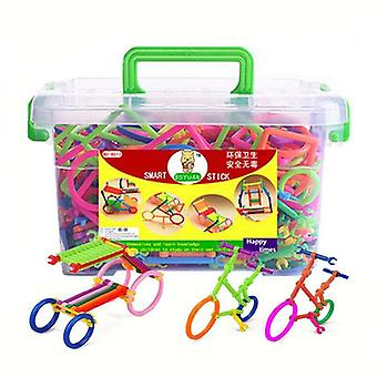 Børn Plastic Spelling Samle Puslespil, Smart Building Blocks Sticks