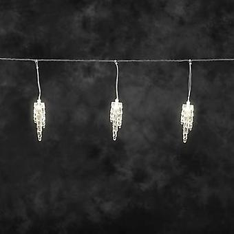 Konstsmide Curtain light (icicles) Outside 24 V 20 LED (monochrome) Warm white (L x W x H) 9 m x 400 cm x 22 cm