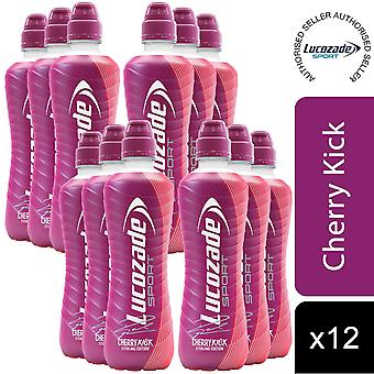 12 Pack de Lucozade Cherry Kick Isotonic Sports Drink, 500ml