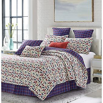 Spura Home 3-Piece Bedspread Loni Harris Western Love King Size Printed Quilt Set