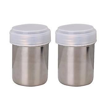 Flour Sifter Icing Sugar Dredger Chocolate Powder Shaker 7x10cm Set of 2