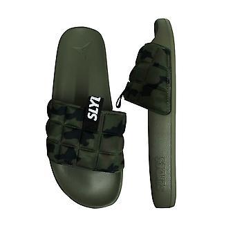 Slydes Fade Slide Mens Slip On Flip Flop Sliders Sandals SS20 M Khaki Camo