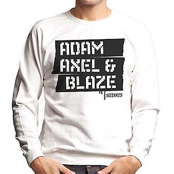 Sega Gatene Av Raseri Adam Axel Og Blaze Menn's Sweatshirt