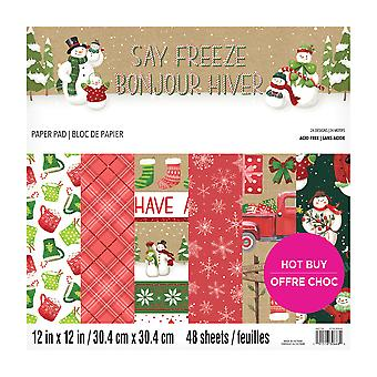Craft Smith Say Freeze 12x12 Inch Paper Pad