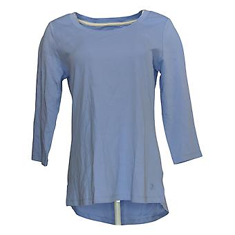 Isaac Mizrahi Live! Dames's Top Essentials 3/4 Sleeve Blue A353391