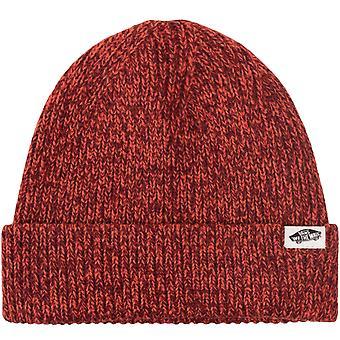 Vans Womens Twilly Fold Up Fine Kit Winter Warm Skater Beanie Hat - Paprika