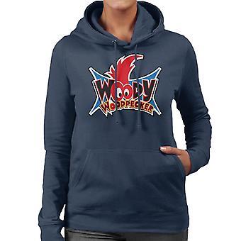 Woody Woodpecker Ojos Logo Mujeres's Sudadera con capucha