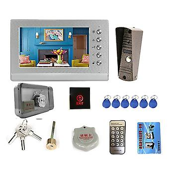 Video Intercom met slot, deurbel camera, exit, ontgrendelknop, dag, nacht