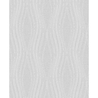 Fine Decor Quartz Wave Silver Wallpaper