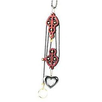 Block And Tackle Pulley Heart Necklace 7005c