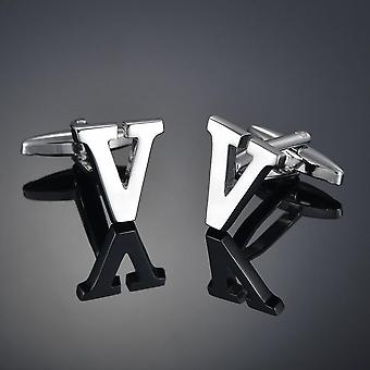 Quality Brass Silver, A-z Letters Cufflinks Men, Chemises