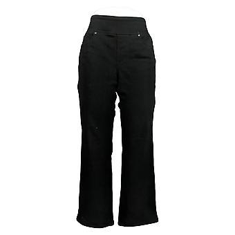 Belle By Kim Gravel Women's Petite Jeans 10 Bootcut Black A371314