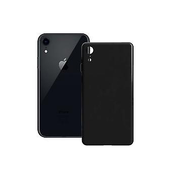 Mobildeksel iPhone XR Kontakt Silke TPU Svart