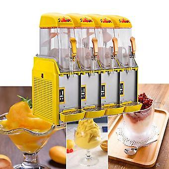 Vierzylinder Schneeschmelzmaschine, elektrische Slush Maschinen, Kaltgetränk,