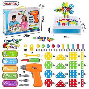 193pcs elektrische Bohrschraube 3d Puzzle Diy kreative Mosaik Puzzle