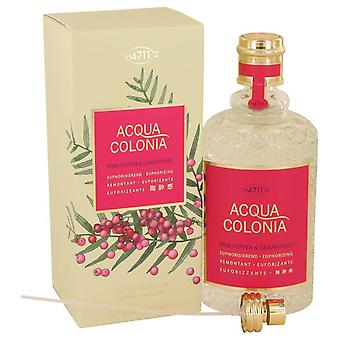 4711 Acqua Colonia Rosa Peppar & Grapefrukt Eau De Cologne Spray Av 4711 5,7 oz Eau De Köln Spray