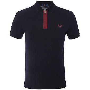 Fred Perry Zip Neck Polo Shirt M1619 608