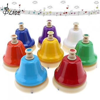 8 Note Beautiful Colorful Hand Bell Set