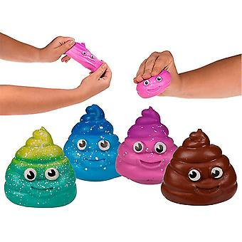 2-Pack Sticky Squeeze Poo Stress Ball Clamp Ball Fidget Toy Stress Poop